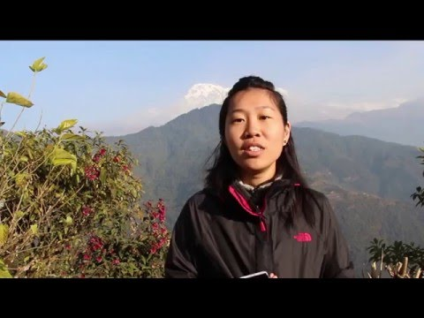 Wei Qian with all women hiking group to Mardi Himal