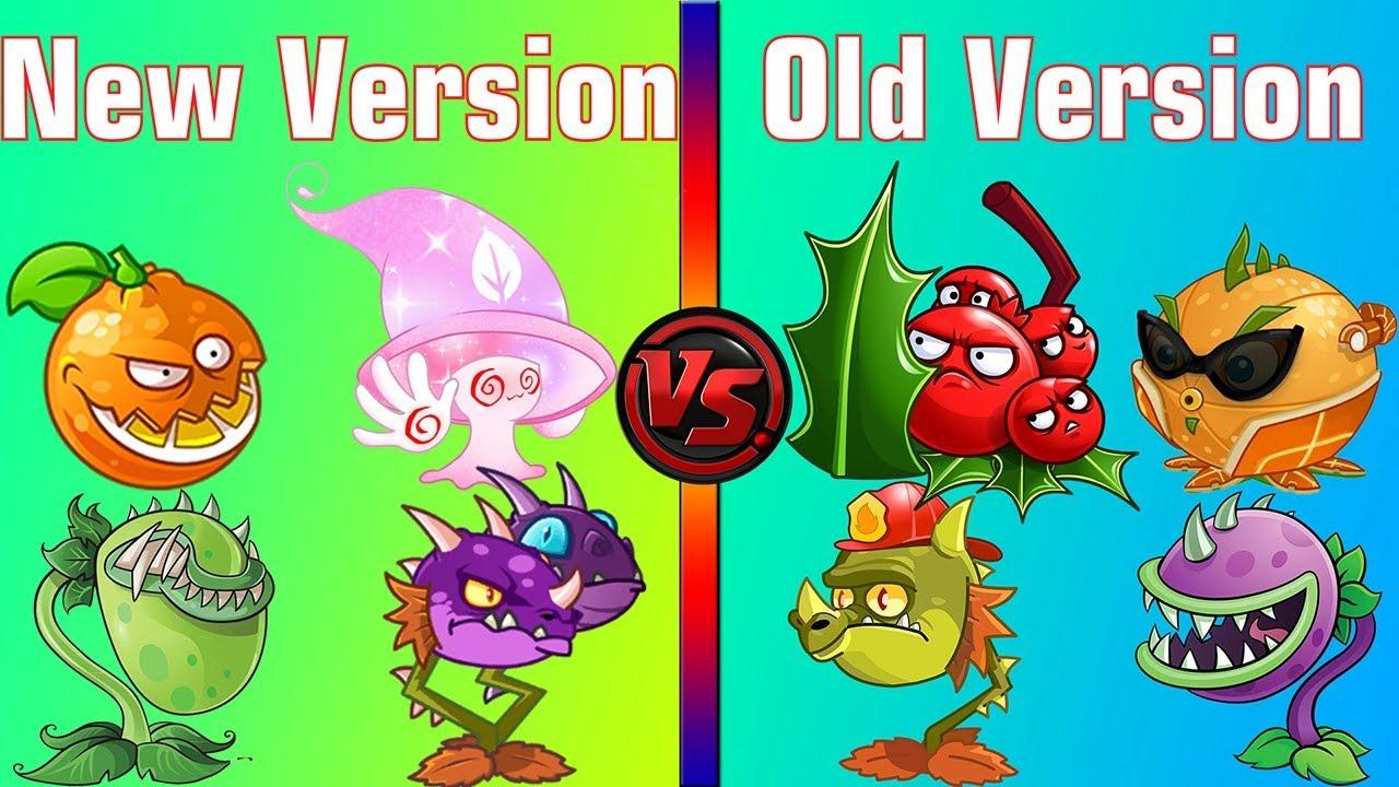 Plants vs Zombies 2 Plant in New Version vs Plant in Old Version! (PvZ 2  All Zomboss)