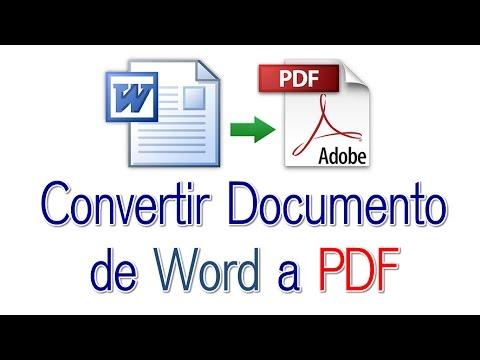 Convertir Documento de Word a PDF Sin Programas