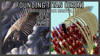 How To Build FOUND NG T TAN In Minecraft Command Block REMASTERED Attack On Titan Tutorial