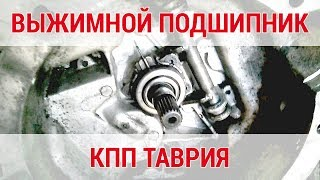 Как выглядит механизм выжимного подшипника в коробке передач автомобиля ТАВРИЯ