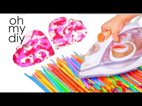 DIY Jewelry Out Of Drinking Straws | DIY Earrings