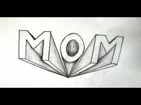 How to draw mom in 3d how to write mom in 3d point perspective how to draw mom in 3d how to write mom in 3d point perspective youtube expocarfo Gallery