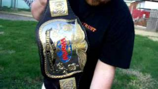 WWF style classic Tag Team Championship belt