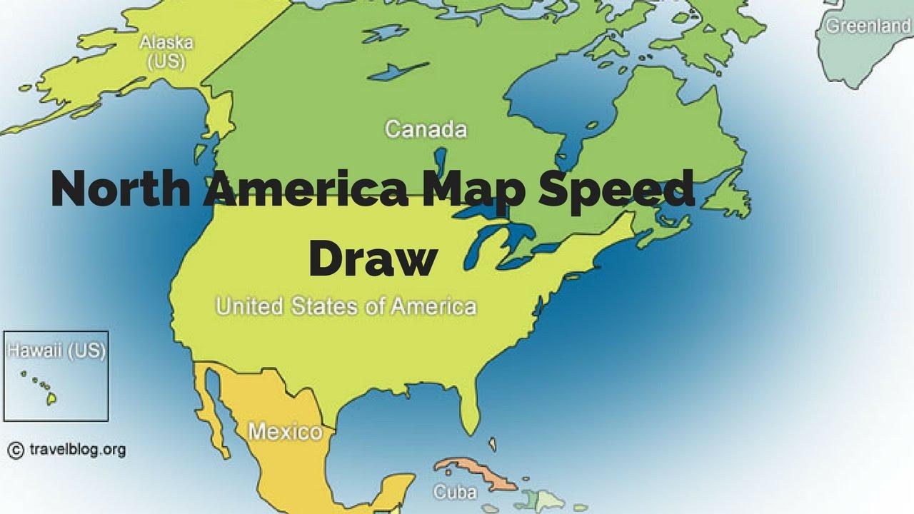 North America Map Speed Draw North America