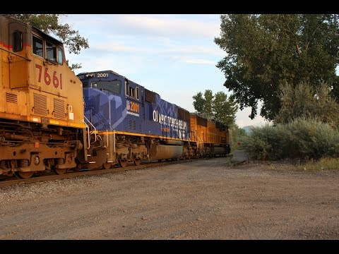 Union Pacific 2001 - Salt Lake City Winter Olympics Locomotive - Coal train movement!