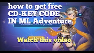 What Is Cd Key In Mobile Legends Adventure 2020 ...