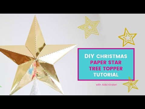 DIY Christmas Paper Star Tree Topper: Free Template to print or use with your Cricut