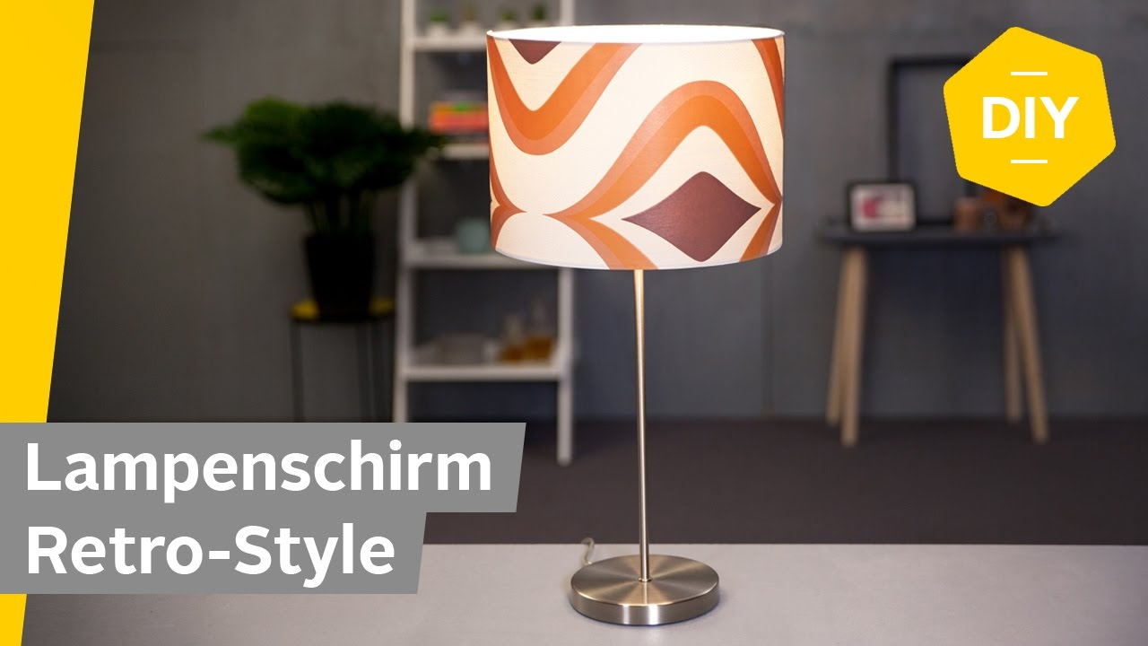 Diy Lampenschirm Den Retro Style Verpassen Roombeez Powered By Otto Youtube