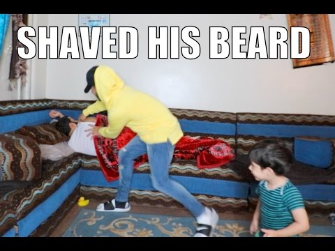 I SHAVED HIS BEARD INFRONT OF HIS SON!!!