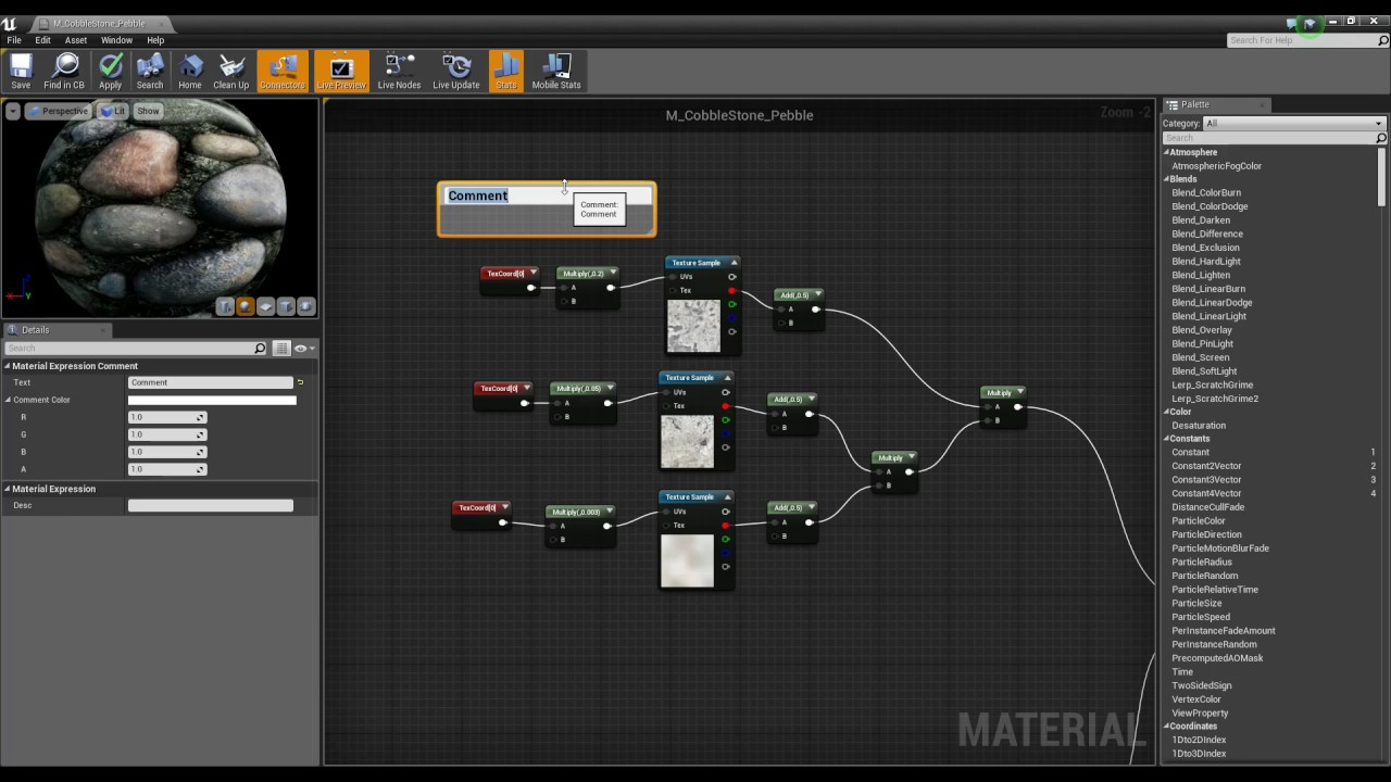 Material Editor Reference | Unreal Engine Documentation