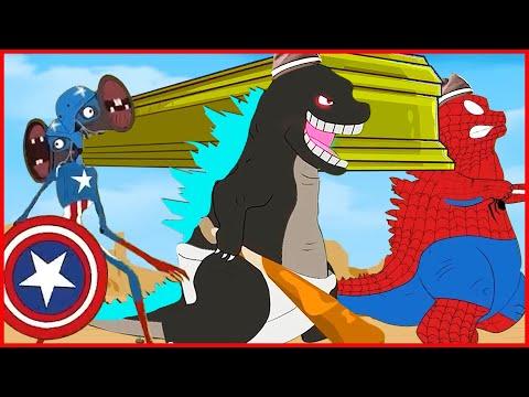 Spider Godzilla & Iron Godzilla & Mechagodzilla & Kong & Cartoon Cat - Coffin Dance Song Meme Cover