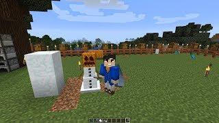 Minecraft   Como Hacer Golem De Nieve