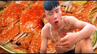 survival skills primitive Bake crabs at the beach | primitive life | survival skills. HT