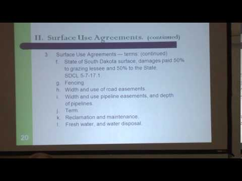 Oil, Gas & Mineral Law Issues Clip 9