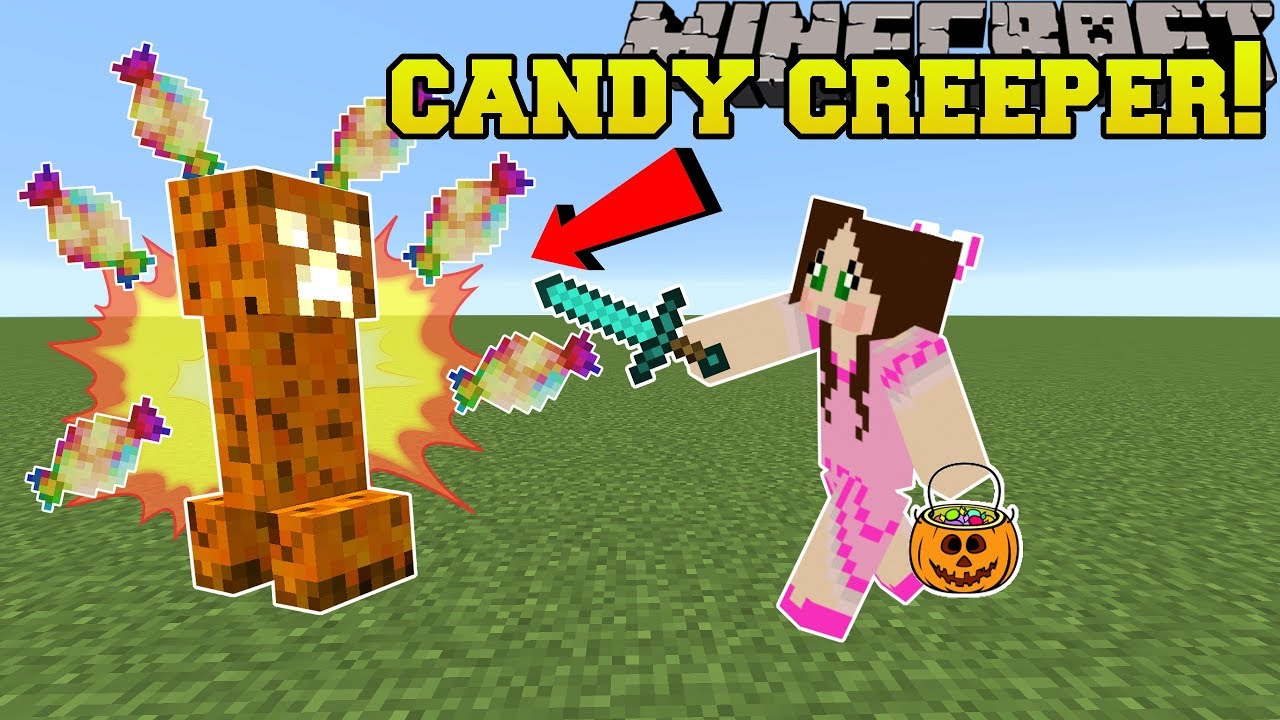 Minecraft: HALLOWEEN!!! (CANDY EXPLODING CREEPERS & TRICK OR TREATERS!) Mod Showcase