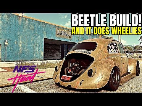 NFS HEAT - VW BEETLE DRAG BUILD | 1,8 Sec 0-100km/t | 500HP ENGINE SWAP