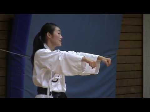 Part1: Master Anna Kim, 6 Dan Taekwondo. Training session Part 1 of 2