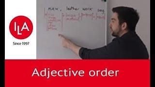 Видео уроки английского языка в ILA: Adjective order