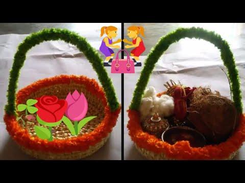 diy - how to make wooden basket || home decoration ideas for basket || wooden basket tokri  diy