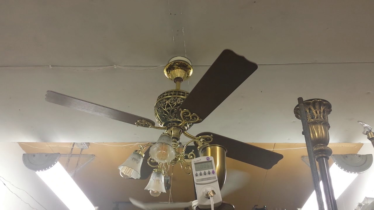 Hunter 1886 Limited Edition Ceiling Fan With Menards Light Kit