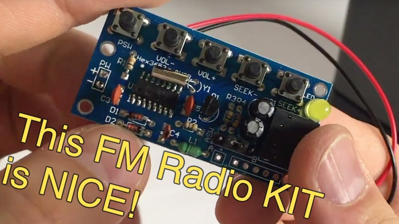 DIY FM Radio kit assembly