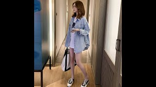 제이앤티 루즈핏 워싱 데님 긴팔 셔츠