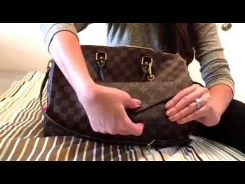 fbc67f8e9a6b What s in my Louis Vuitton Speedy 35 Bandouliere Damier Ebene - YouTube