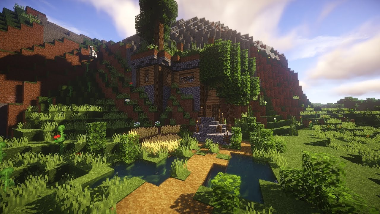 Minecraft Tutorial Survival Hill House Youtube