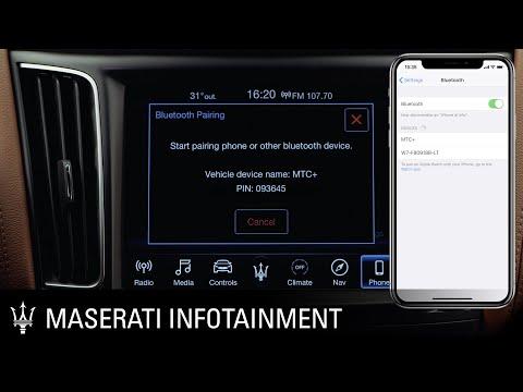 Maserati. Infotainment series. Bluetooth device