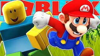 CAN YOU BEAT MARIO AT SPEED RUN PARKOUR IN ROBLOX?