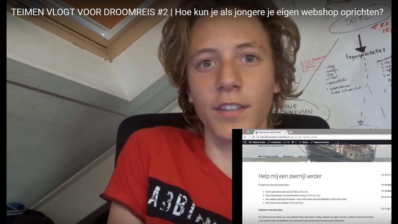 Hoe kun je als jongere je eigen webshop oprichten? | TEIMEN VLOGT VOOR DROOMREIS #2