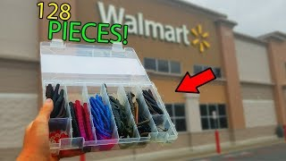 Walmart 128 Piece Bass Fishing Kit Challenge (Surprising!)