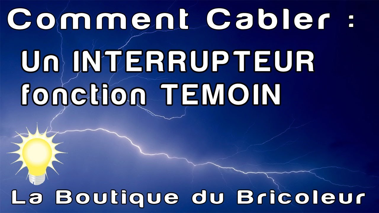 De a z interrupteur fonction temoin pour controler l 39 eclairage attention necessite le neutre - Comment brancher un interrupteur ...