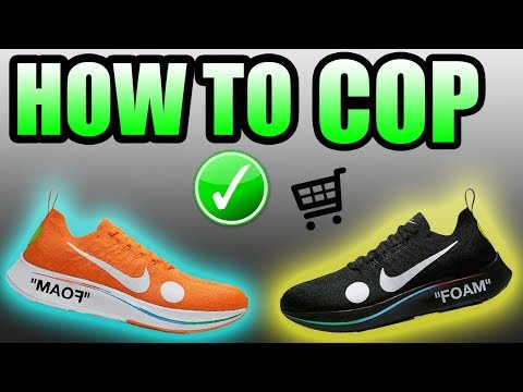 How To Get The OFF WHITE ZOOM FLY 2018 ! | ORANGE + BLACK Off White Zoom Fly Release Info !
