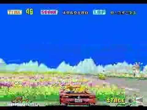 OutRun  -- No one can overtake !! --  Route D  4'32''75