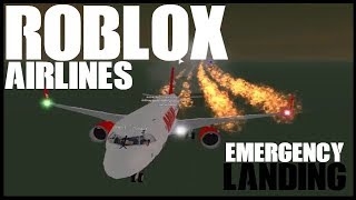 ROBLOX | Roblox Airlines | Airbus A320 Economy Emergency Landing Roleplay