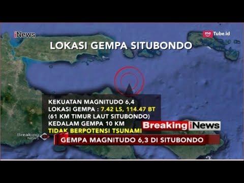 BMKG: Gempa Situbondo Tidak Berpotensi Tsunami, Warga Diimbau Tidak Panik - Breaking INews 11/10