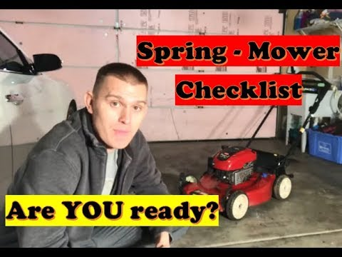 How to Get Lawn Mower Ready for Spring | Spring Lawn Mower To Do's (LAWN CARE)