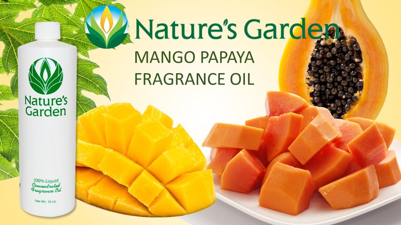 Mango Papaya Fragrance Oil Natures Garden Youtube