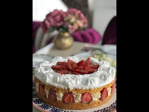 YAŞ PASTA /Lezzeti Harika Pastacı Kreması /ÇİLEKLİ YAŞ PASTA