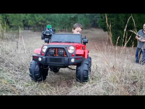 Trail Riding! Power Wheel Ride On Jeep Wrangler, Polaris, Arctic Cat! Outdoor Activities For Kids