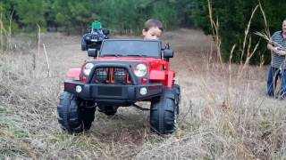 trail riding power wheel ride on jeep wrangler polaris arctic cat outdoor activities for kids