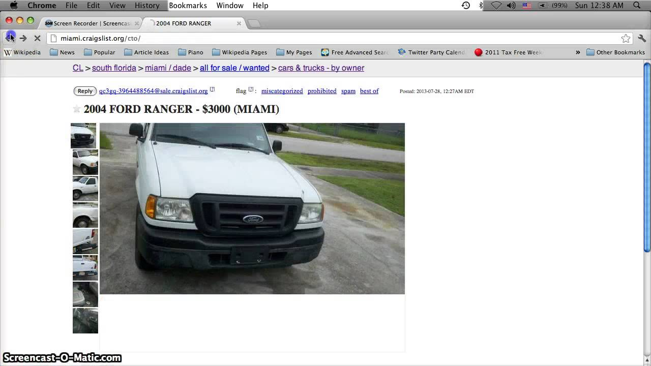 Craigslist Miami Florida Cars