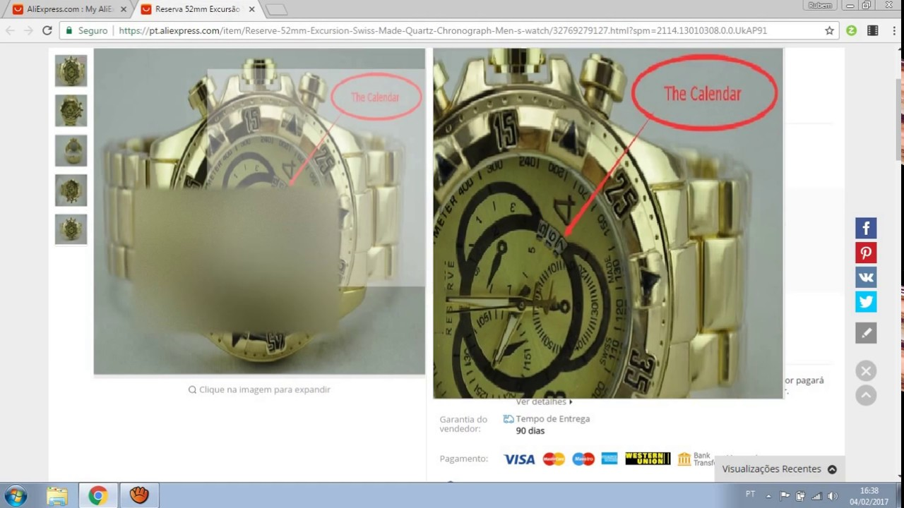 80f6097bb0ee3 comprando relógio invicta no aliexpress produto muito bom - YouTube
