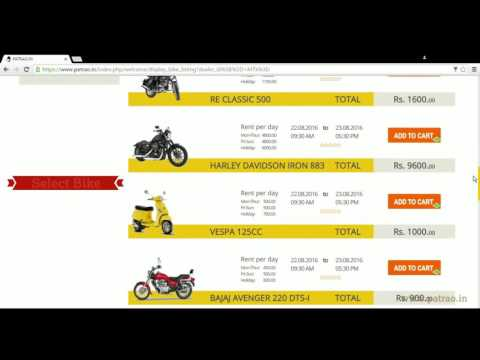 How to Rent a Bike in Goa on www.patrao.in