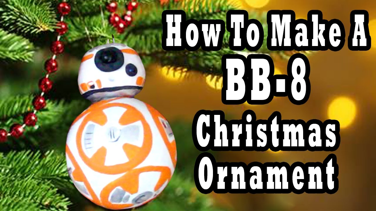 Star Wars DIY - How to Make a BB8 Ornament - Madi2theMax - YouTube