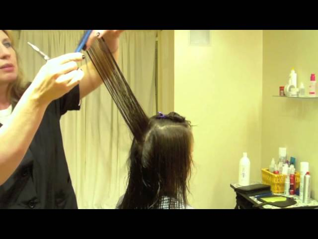 Long Layered Haircut, Fine Textured Hair: Hair Tutorial Travel Video