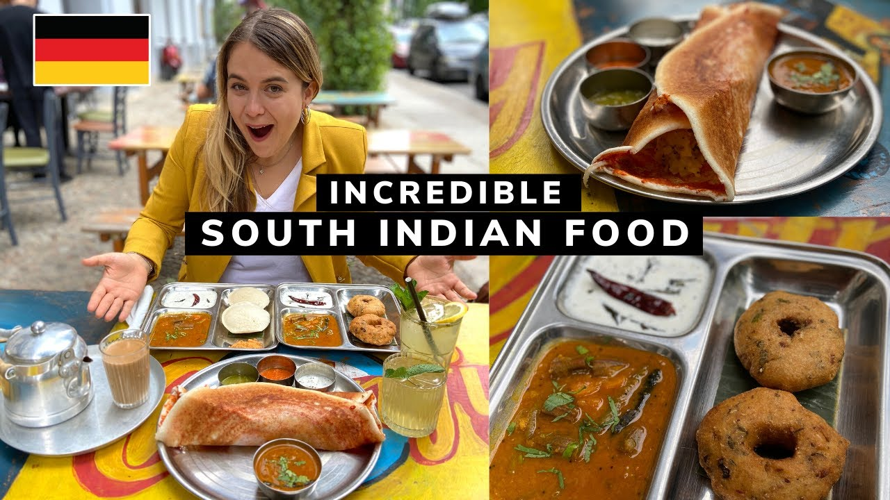 Trying the BEST SOUTH INDIAN FOOD in GERMANY!