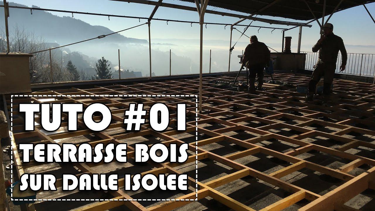 tutoriel 01 terrasse bois sur dalle b ton isol e youtube. Black Bedroom Furniture Sets. Home Design Ideas